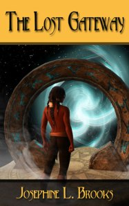 Fantasy Fiction Novel The Lost Gateway man standing in front of a mysterious gateway